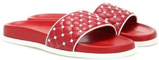 Valentino Free Rockstud Spike leather slides