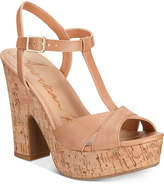 American Rag Jamie T-Strap Platform Dress Sandals, Created for Macy's Women's Shoes