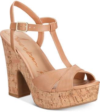 American Rag Jamie T-Strap Platform Dress Sandals, Women Shoes
