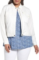 Sejour Plus Size Women's Crop Utility Jacket
