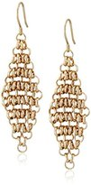 "Kenneth Cole New York Citrus Slice"" Gold-Tone Mesh Drop Earrings"