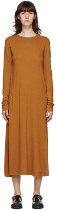 Rika Studios Orange Grace Long Sleeve Dress