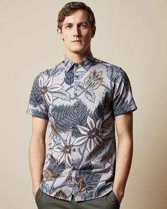 Ted Baker CANWE Cotton bird print shirt