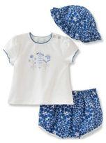 Absorba Baby's Three-Piece Top, Shorts & Hat Set