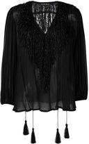 Plein Sud Jeans tassel peasant blouse - women - Silk - 42
