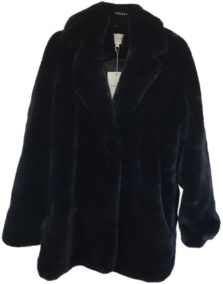 Sézane Sezane Fall Winter 2018 Navy Faux fur Coats