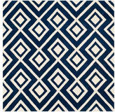 Safavieh Chatham Collection CHT742 Rug, Dark Blue/Ivory, 7' Square