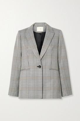 Maje Checked Woven Blazer - Gray