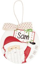 Mud Pie Holiday Personalizable Santa Ornament
