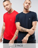 Emporio Armani 2 Pack T-shirts In Regular Fit