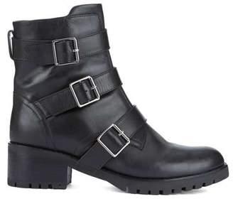 Mint Velvet Abigail Black Leather Boots