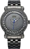 JBW J6338C Hendrix Japanese-Quartz Movement 20 Diamond Stainless Steel Men's Wrist Watch, Grey