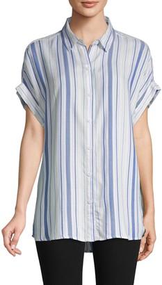 BeachLunchLounge Striped Dolman Sleeve Shirt