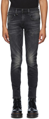 R 13 Black Boy Repeat Jeans