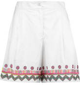Temperley London Fable Embroidered Cotton Shorts