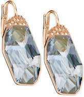 Swarovski Rose Gold-Tone Large Crystal Drop Earrings