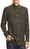 Hudson Weston Camouflage Regular Fit Snap-Front Shirt