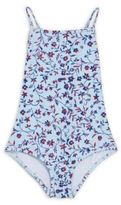 Oscar de la Renta Little Girl's Printed Swimsuit