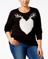 Style&Co. Style & Co Plus Size Reindeer Holiday Sweater, Only at Macy's