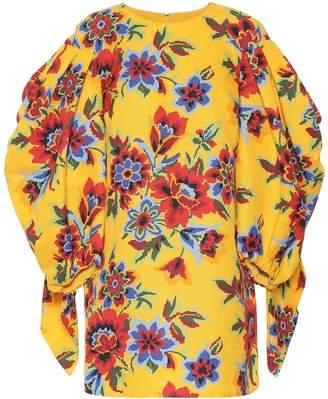 Carolina Herrera Floral cotton and silk minidress