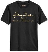 Sean John Men's Big & Tall Internationally Known Metallic-Print Logo T-Shirt