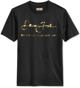 Sean John Men's Internationally Known Metallic-Print Logo T-Shirt, Only at Macy's