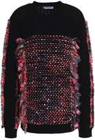 Opening Ceremony Gauze-Detailed Wool And Cotton-Blend Sweater