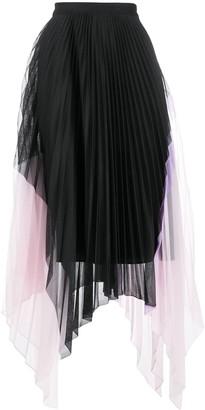 Iceberg Pleated Asymmetric Skirt