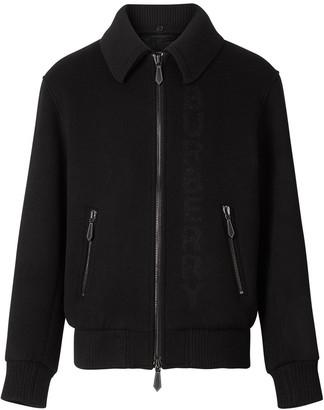 Burberry detachable knit collar bomber jacket