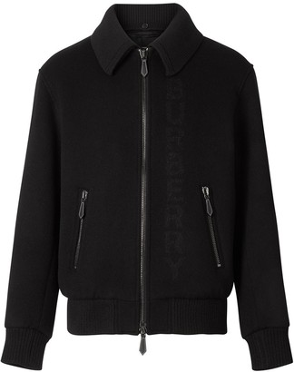 Burberry Detachable Knit Collar Bomber Jacket