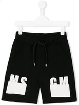 MSGM logo print shorts - kids - Cotton - 4 yrs
