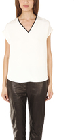 3.1 Phillip Lim Cut Off Shoulder Top