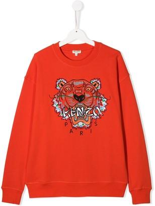 Kenzo Kids TEEN tiger logo sweatshirt