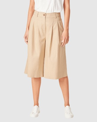 French Connection Women's Shorts - Linen Bermuda Shorts - Size One Size, 8 at The Iconic