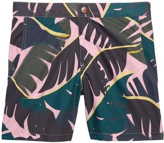 Retromarine | Palm Tropical Camo Swim Short