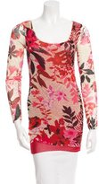 Fuzzi Printed Long Sleeve Top w/ Tags