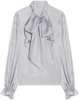 Temperley London Atlas Pussy Bow Tie Blouse