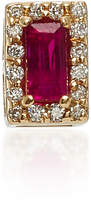 Alison Lou 14K Gold Ruby and Diamond Single Stud Earring