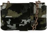 Tomas Maier New Aragon Camouflage Velvet Crossbody Bag
