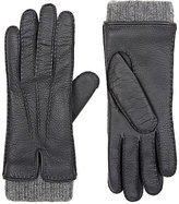 Barneys New York Women's Leather & Cashmere Gloves-GREY
