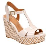 Clarks Amelia Roma Patent Leather T-Strap Wedge Sandals