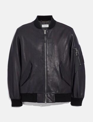 Coach Leather Ma-1 Jacket