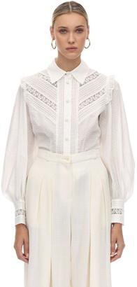 Zimmermann Broderie Anglaise Cotton Shirt