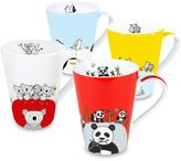 Konitz Globetrotter Animals Zoo Mugs (Set of 4)