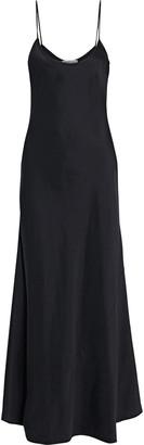 Gabriela Hearst Flores Silk And Wool-blend Satin Maxi Slip Dress