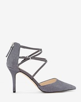 White House Black Market Suede Strappy Heels