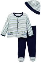 Little Me Train Stripe Take Me Home Set (Baby Boys)