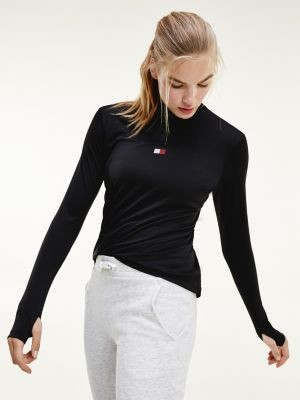 Tommy Hilfiger Half-Zip Long Sleeve Performance T-Shirt