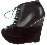 Saint Laurent Platform Wedge Booties