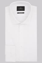 Moss Bros Premium Extra Slim Fit White Single Cuff Textured Shirt